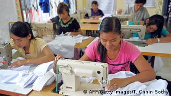 Kambodscha Textilindustrie Näherinnen