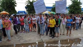 Kambodscha Textilindustrie Proteste