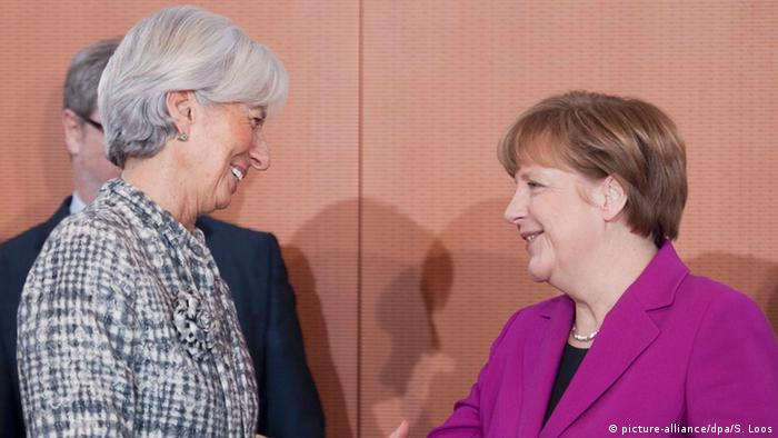 Berlin - Christine Lagarde trifft Angela Merkel (picture-alliance/dpa/S. Loos)