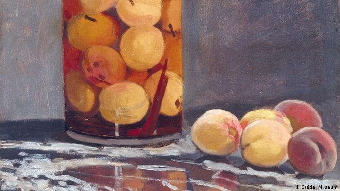 Клод Моне. Банка с персиками, 1866 (фрагмент)