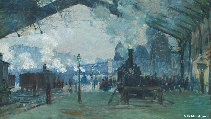 Клод Моне. Вокзал Сен-Лазар, нормандский поезд, 1887