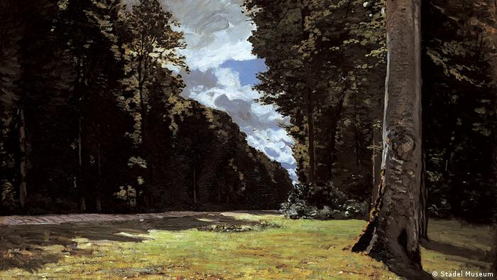 A painting of the Fontainebleau forest, south of Paris.