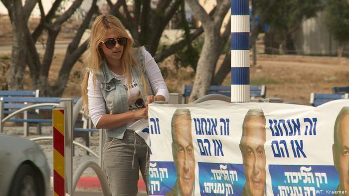 Likud-Wahlhelferin Miri Emkez - Foto: Tania Krämer