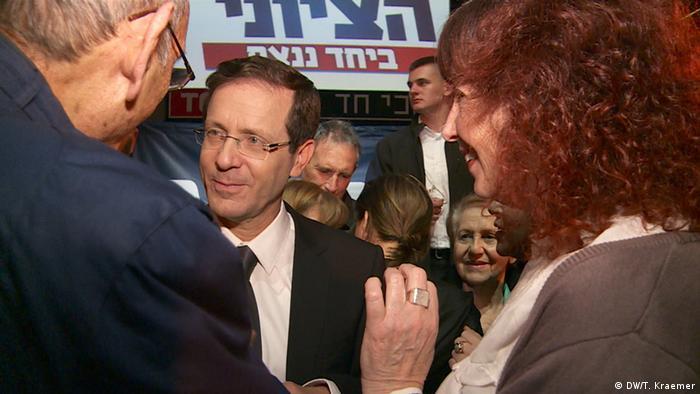 Oppositionskandidat Izchak Herzog in Jerusalem - Foto: Tania Krämer