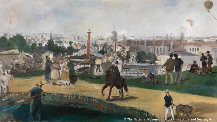 Эдуард Мане. Вид на Всемирную выставка в Париже, 1867