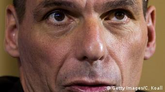 A ficture of Greek Finance Minister Yanis Varoufakis