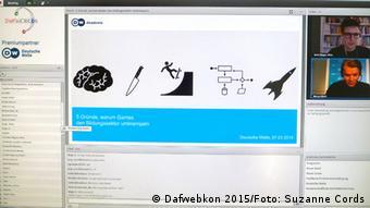 Ein Screenshot des Vortrags von Marcus Bösch zum Thema 5 Gründe, warum Games den Bildungssektor umkrempeln