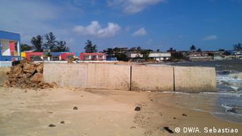 Küstenerosion in Mosambik