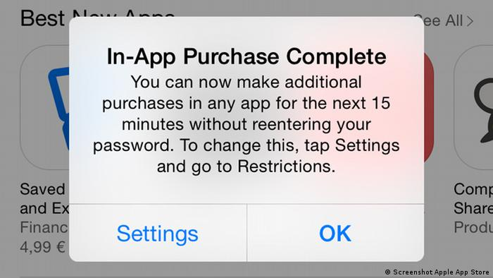 Screenshot App Store In-App Purchases