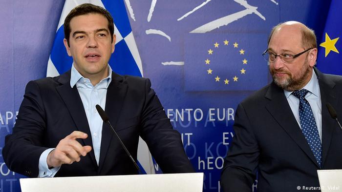 EU Griechenland Ministerpräsident Alexis Tsipras bei Martin Schulz in Brüssel