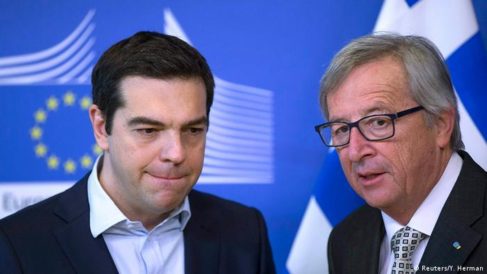 Regierungschef Alexis Tsipras im März bei Jean-Claude Juncker in Brüssel (Foto: Reuters)
