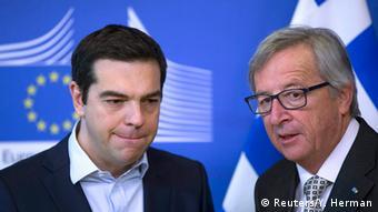 EU Griechenland Ministerpräsident Alexis Tsipras bei Jean-Claude Juncker in Brüssel