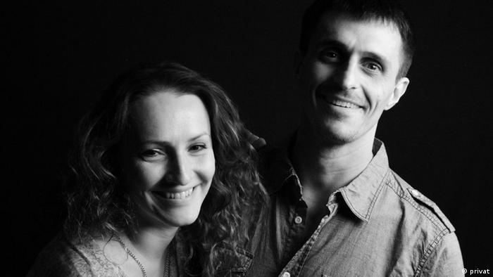 Італійська журналістка Лоредана П'янта із чоловіком Алессандро Айресом