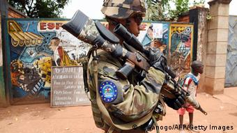 Central African Republic EUFOR soldier in Bangui
