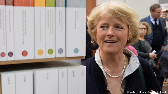 Germany's Culture Commissioner Monika Grütters at Leipzig Book Fair. Copyright: DW/K 21