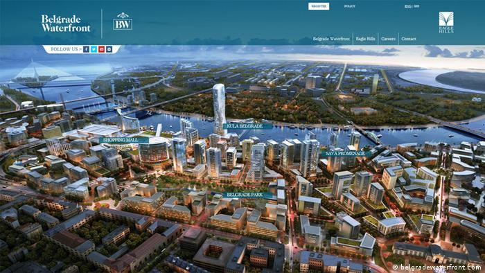Screenshot Belgrade Waterfront