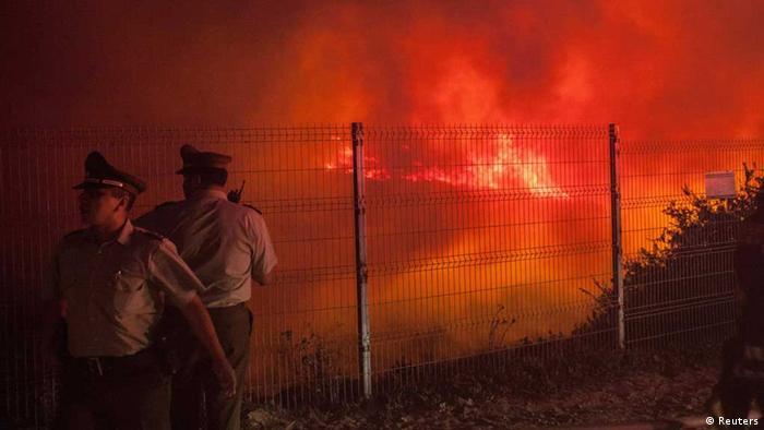 Valparaiso in Flammen