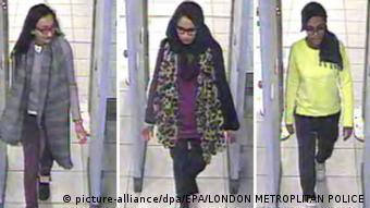 Großbritannien Syrien Schülmädchen auf dem Weg nach Syrien SCHLECHTE QUALITÄT