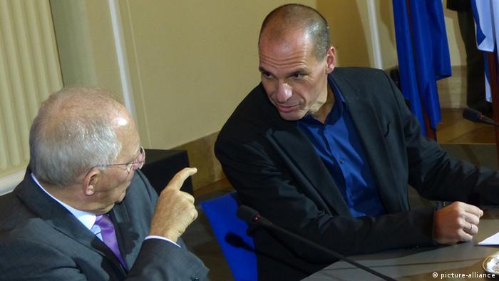 Symbolbild Griechenland Deutschland Varoufakis Schäuble