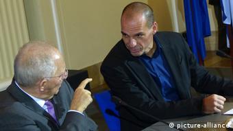 Symbolbild Griechenland Deutschland Varoufakis Schäuble (picture-alliance)