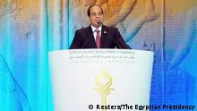 Egypt Economic Development Conference EEDC in Scharm El-Scheich Ägyptischer Präsident Abdel Fattah al-Sisi