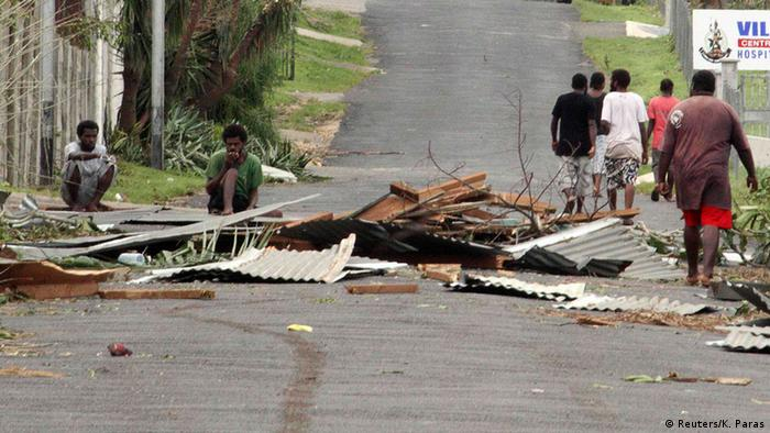 Destruction from Tropical Cyclone Pam