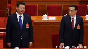 Председатель КНР Си Цзиньпин и премьер Госсовета Ли Кэцян