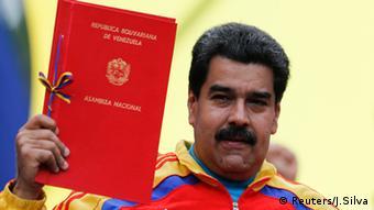 Nicolás Maduro, presidente de Venezuela, tras recibir poderes especiales de la Asamblea Nacional (15.03.2015).