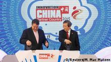 Cebit China Partnerland Gabriel und Ma Kai