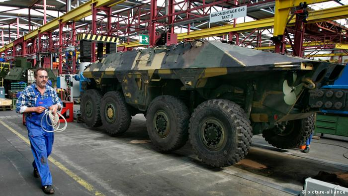 На оборонном предприятии Rheinmetall в Касселе, Германия