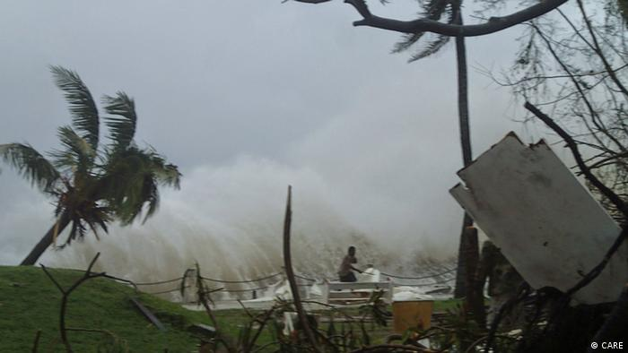 Vanuatu destruction caused by Cylone Pam