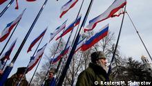 Ukraine Russland Krim Anschluss 1. Jahrestag
