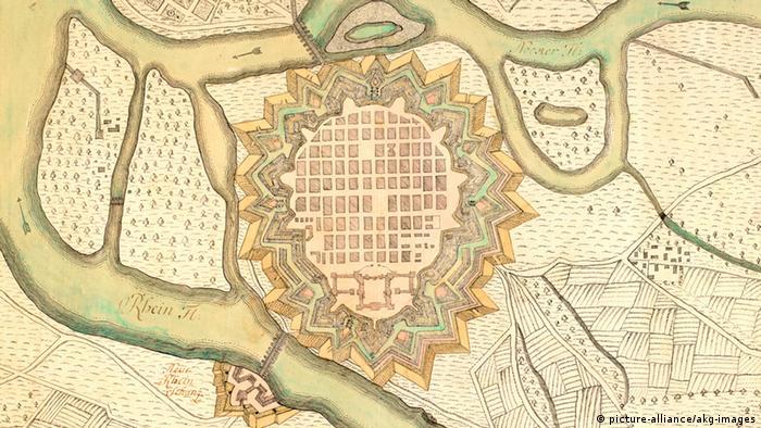 Gradski plan Mannheima pokazuje šahovsku mustru