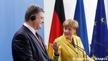 Deutschland Ukraine Poroschenko bei Merkel PK