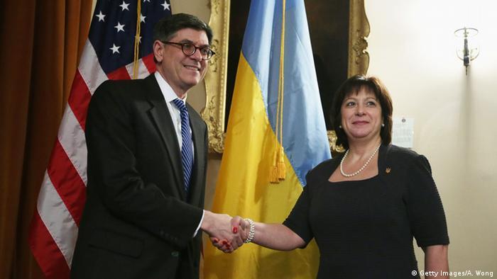 Министры финансов США Джейкоб Лью и Украины Наталия Энн Яресько