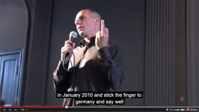 Screenshot Varoufakis Stinkefinger YouTube