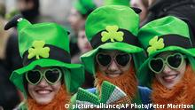 St. Patricks Day Symbolbild Irland (picture-alliance/AP Photo/Peter Morrison)