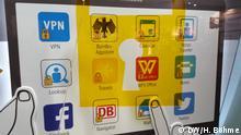 Beschreibung: IT-Sicherheit Topthema auf der CeBIT Foto: DW/Henrik Böhme Hannover 17.3.15