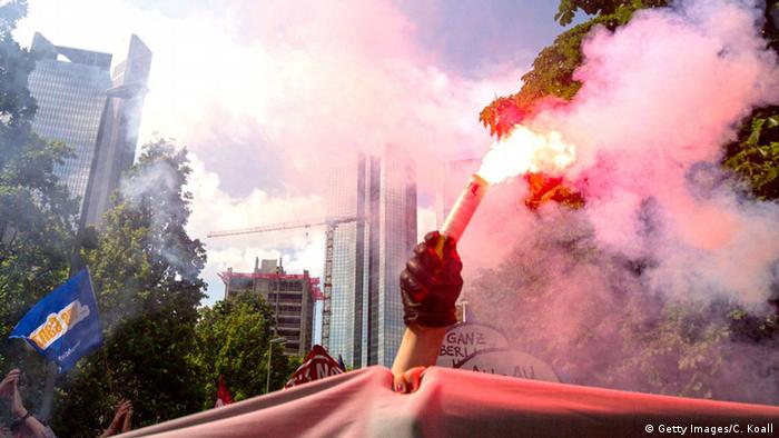 Blockupy-Proteste in Frankfurt