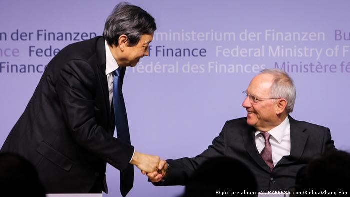 Ma Kai und Wolfgang Schäuble AIIB Deutschland