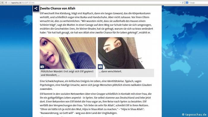 Screenshot Tagesschau Elif Ö.