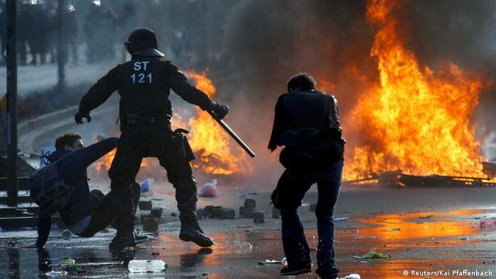 Protestele Blockupy la Frankfurt