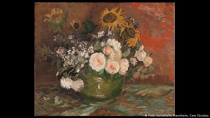 Vincent van Gogh, Rosen und Sonnenblumen, 1886