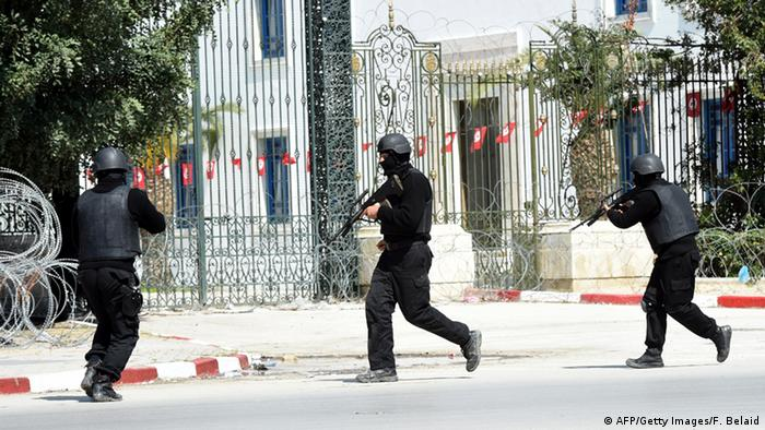 Security forces outside the Bardo Museum in Tunis following a deadly attack (AFP/Getty Images/F. Belaid)