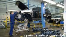 Russland Opel Werk in Sankt Petersburg