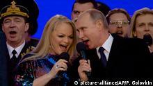 Russland Moskau Feierlichkeiten Jahrestag Krim Annektierung Putin