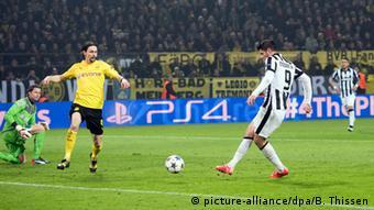 Champions League Dortmund vs Juventus Turin Tor Morata