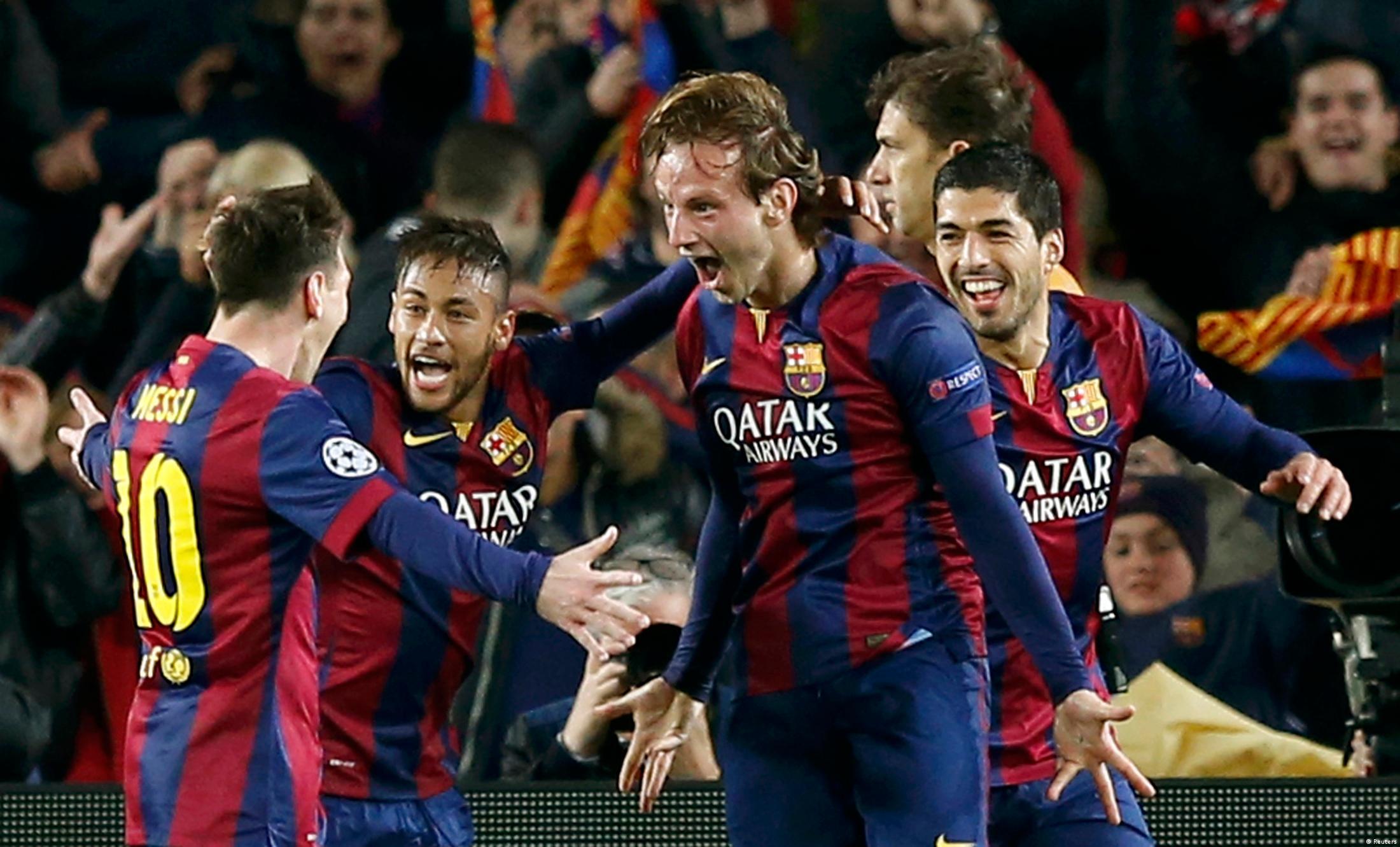 Barcelona bejubelt den Siegtreffer von Rakitic gegen ManCity