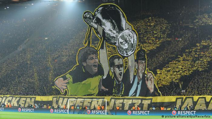 Borussia Dortmund fan choreography versus Juventus Turin