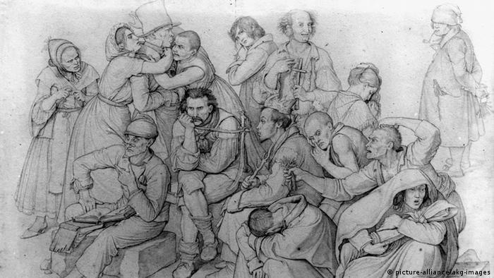 Дом сумасшедших. Рисунок 1834 года